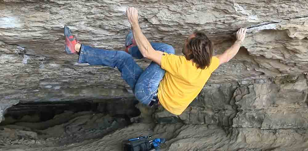 Chris Sharma in der Cova de l'Ocell