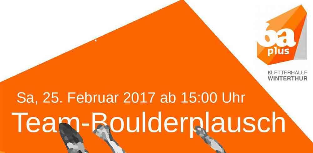 Team Boulder Fun en Winterthur - 6aplus
