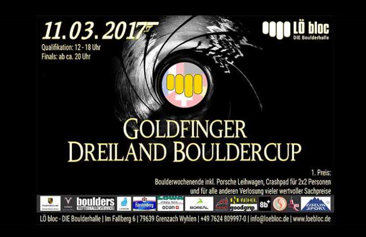Boulder competición Goldfinger en el bloque LÖ.