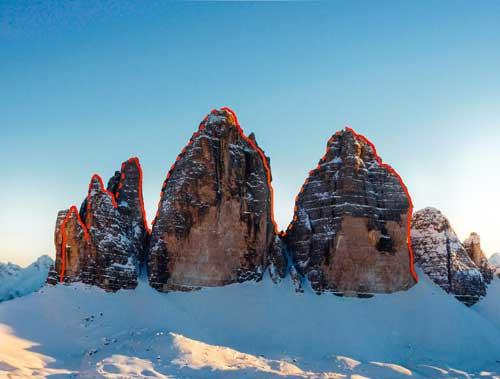 Crossing Three Peaks_Michi Wohlleben y Simon Gietl - Imagen Fritz Miller