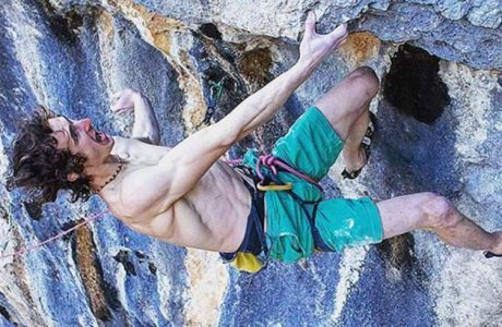 Adam Ondra in Lapsus at Andonno