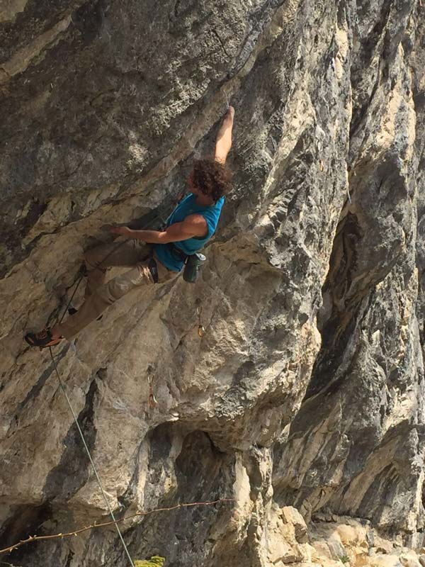 Alexander Rohr in Chromosome Y (8c + / 9a) near Charmey, Switzerland