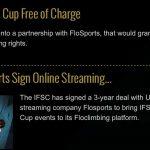 IFSC und Flowsport unterzeichnen Abkommen