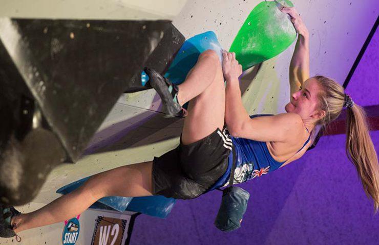 Shauna Coxsey gewinnt den Boulderworldcup in Meiringen - Bild SAC davidschweizer