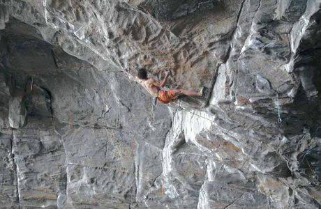 Adam Ondra in Project Hard bei Flatanger - Norwegen