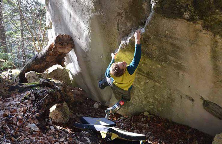 Kevin Heiniger in Kryptos am Morchelstock im Balsthal