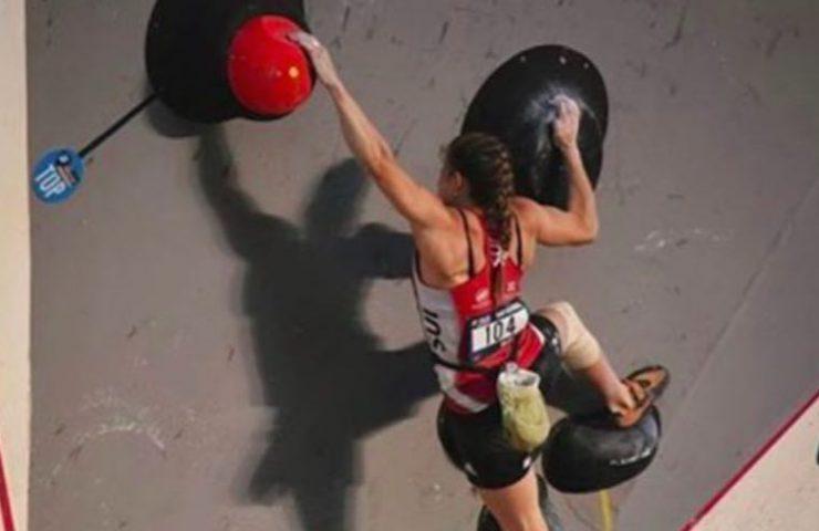 Petra Klingler holt sich den vierten Rang am Boulderweltcup in Mumbai - Indien