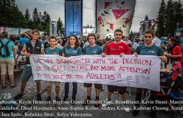 Athletes disappointed by the Swiss Alpine Club SAC