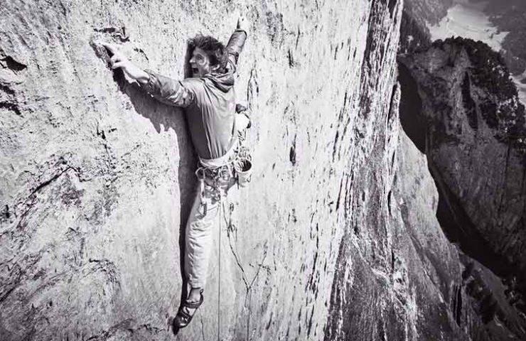 Michi Wohlleben en el primer ascenso de Parzival en la Trinidad en el Alpstein - Suiza