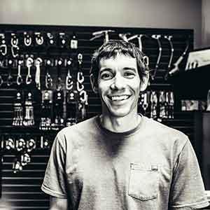 Alex Honnold - Training Hangboard Bild zVg Black Diamond