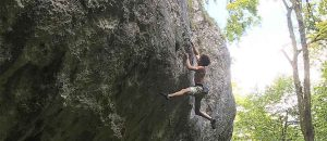 Alexander Rohr klettert Fred-Nicole-Route im Basler Jura