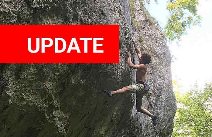 Alexander Rohr climbs Ravage in Chuenisberg