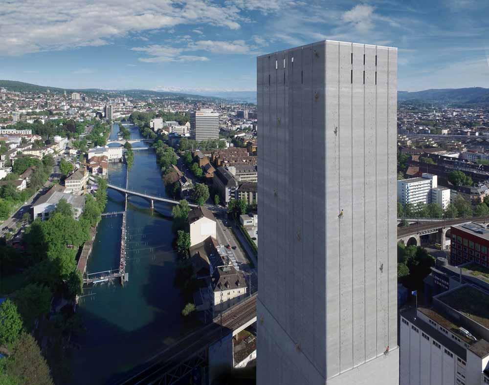 Zürinordwand en Swissmill-Silo