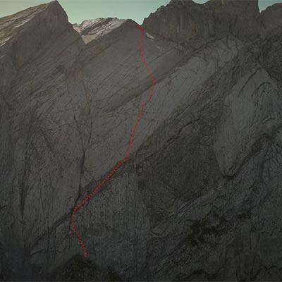 Miroir de l'Argentine - Diese 450 Meter Wand hat Marcel Remy durchstiegen