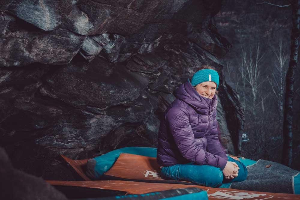 Natalie Bärtschi: Boulder athlete (photographer David Tomlinson)