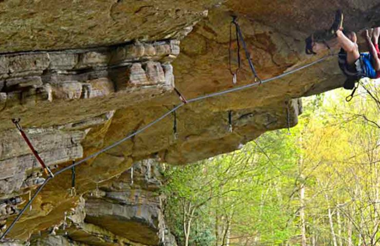 So you overcome your fear of falling while climbing