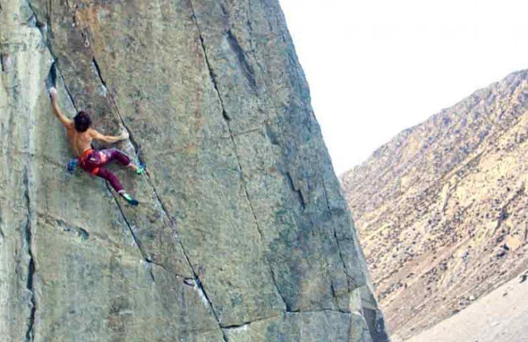 Chris Sharma en una escalada en su California natal