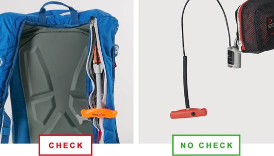 Mammoth avalanche backpack_ call for control check