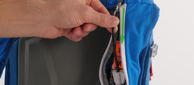 Compruebe Mammut avalanche backpack_check para control check_main_patch