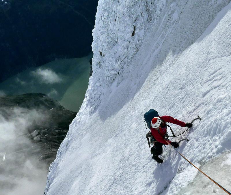 Silvan Schüpbach y Matteo Della Bordella en el primer ascenso de la ruta King Kong en la Patagonia