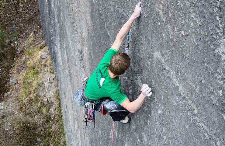 Nemuel Feurle klettert Prinzip Hoffnung im Alter von 16 Jahren