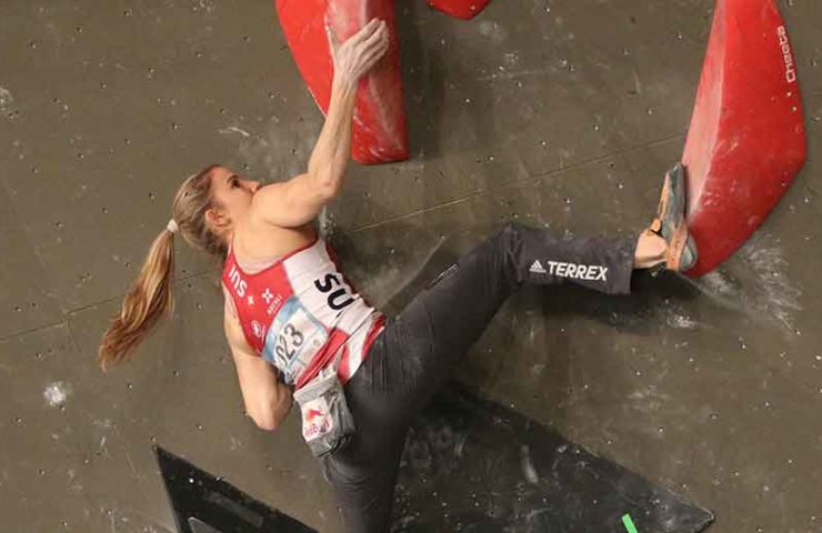 Petra Klingler en la primera Copa del Mundo y escalada al aire libre
