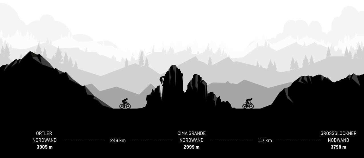 Drei Nordwände - zwei Alpinisten - zwei Sportarten