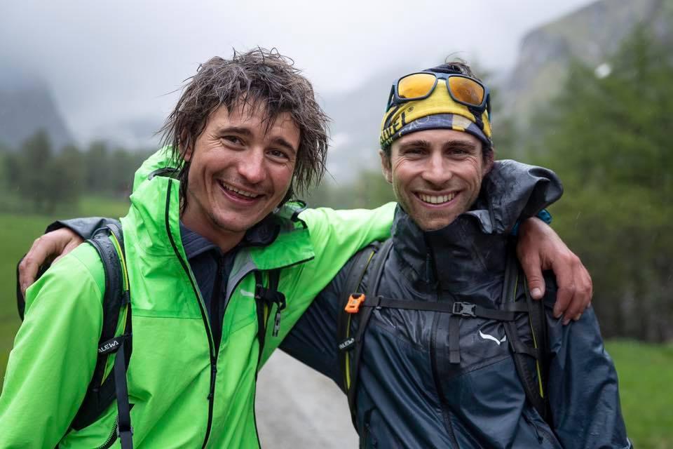 Cansado y satisfecho: Simon Gietl y Vittorio Messini tras el exitoso ascenso de velocidad