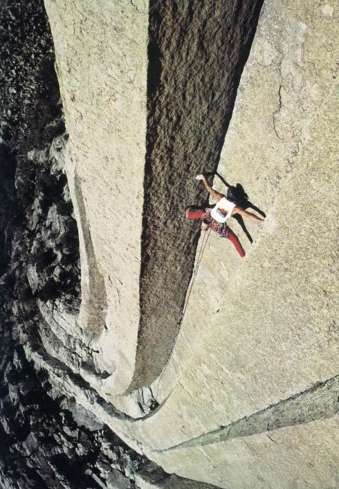 Trad climbing at Devils Tower