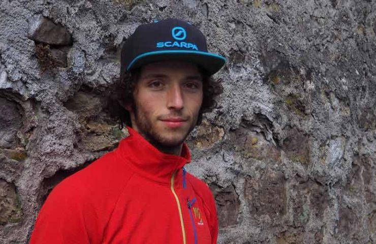 El escalador de Berna Alexander Rohr en una entrevista.