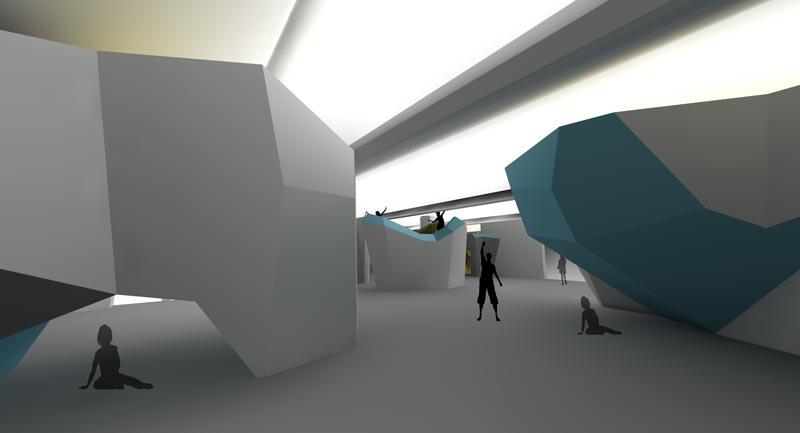 Visualization of the Boulder Lounge in Sankt Gallen