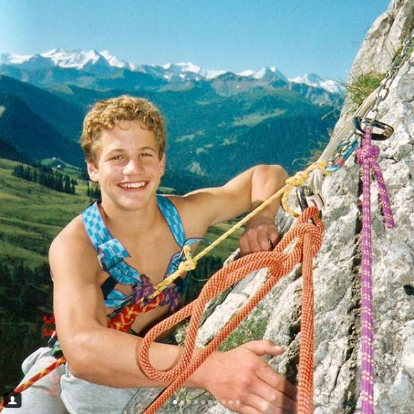 Roger Schäli comenzó a escalar cuando era niño (foto Roger Schäli).