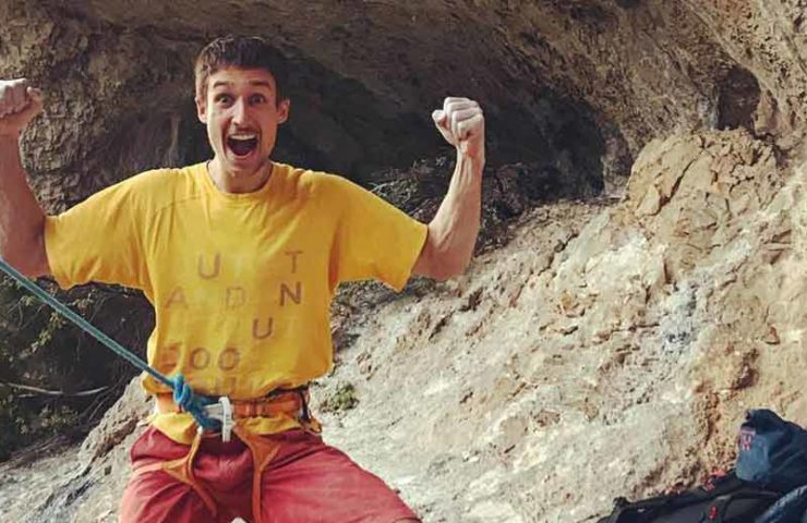 David Firnenburg gets the second ascent of Cadafist (9a)