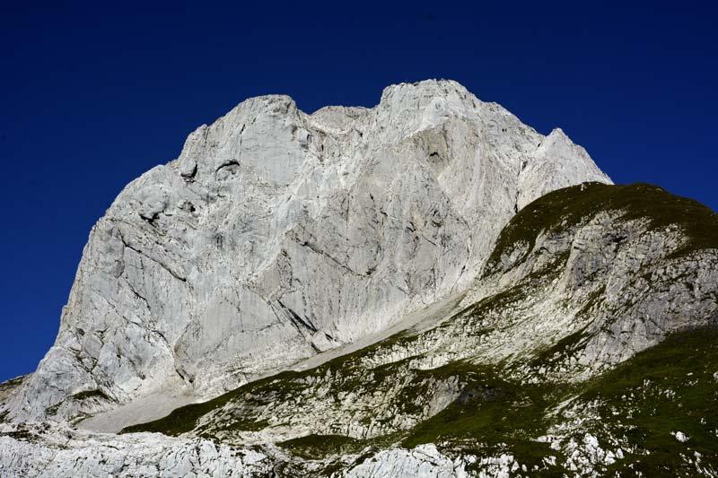 An imposing piece of rock - The Altmann in the Alpstein Mountains (picture Tim Marklowski).