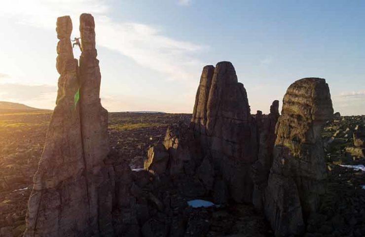 Kilian Fischhuber und Co klettern im sibirischen Niemandsland an den Sundrun Pillars