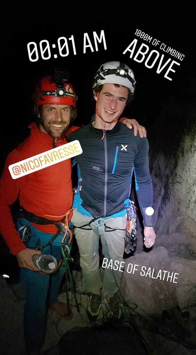 Adam Ondra enters the Salathé Wall with Nico Favresse