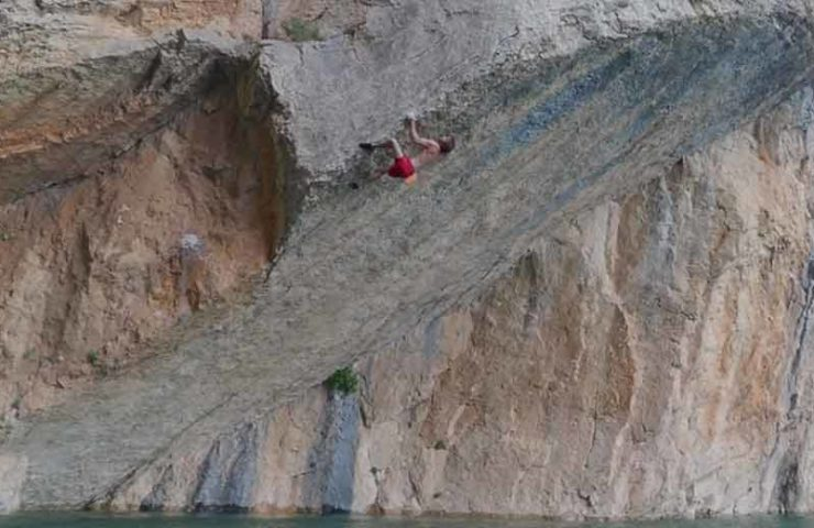 Chris Sharma has found a new Deep Water Soloing playground: Mont Rebei