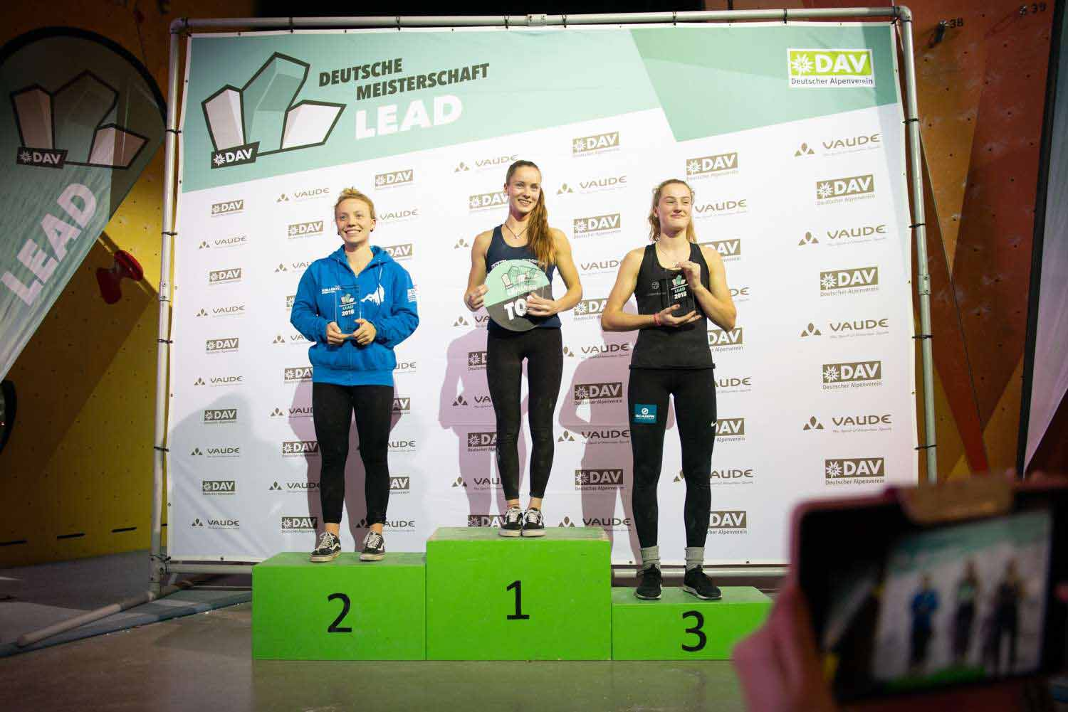 The three best placed in the lead competition in Darmstadt