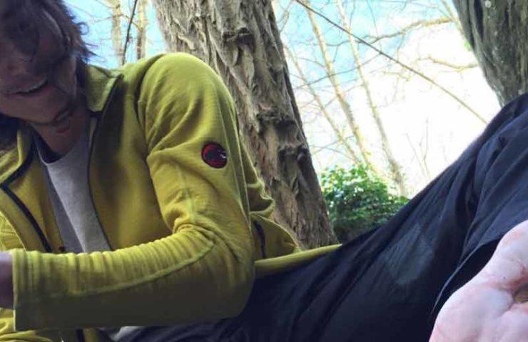 Charles Albert commits Boulder Hypothèse barefoot launch version (8c +)