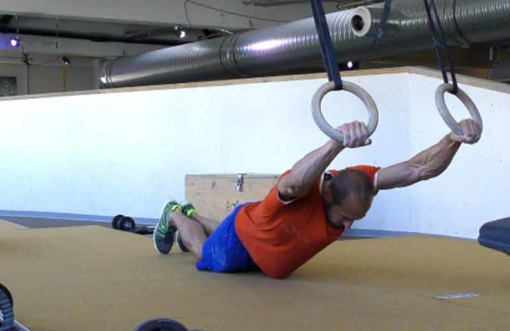 So you train body tension and strengthen your back muscles