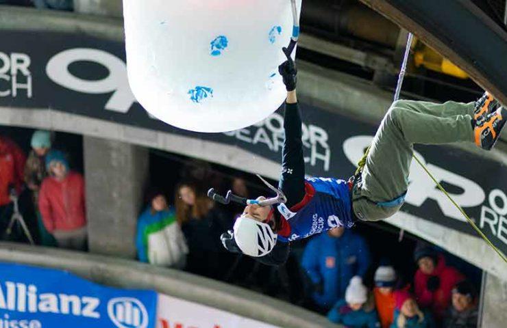 Yannick Glatthard gana la Copa del Mundo de escalada en hielo en Saas-Fee en un final espectacular