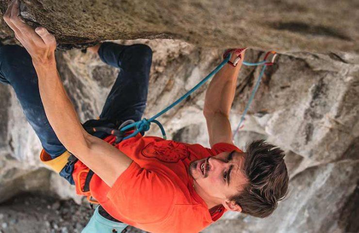 Marco Zanone climbs the Dave Graham Climbing Route Coup de Grâce