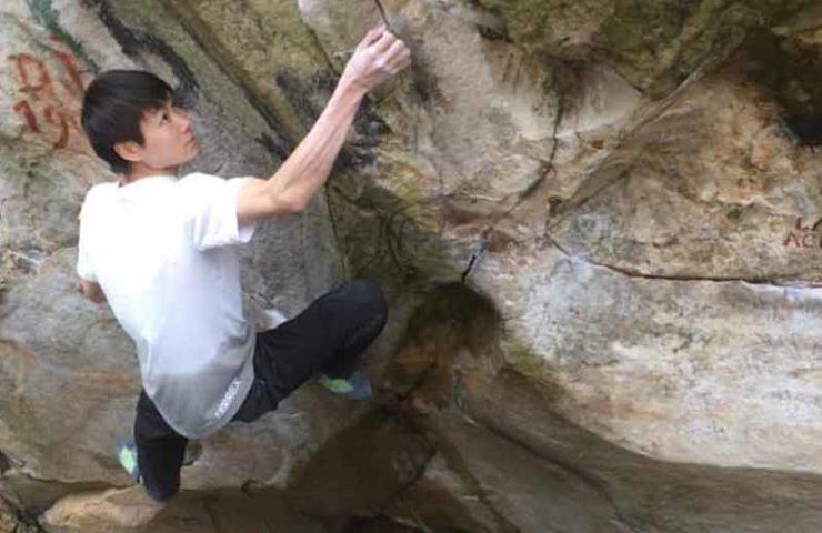Ryohei Kameyama wiederholt den 9a-Boulder No Kpote Only in Fontainebleau