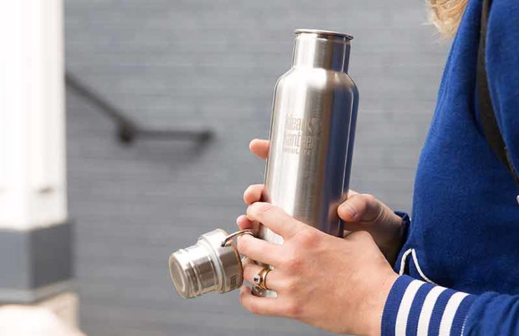 This is probably the cleanest drinking bottle ever: Klean Kanteen Classic Reflect