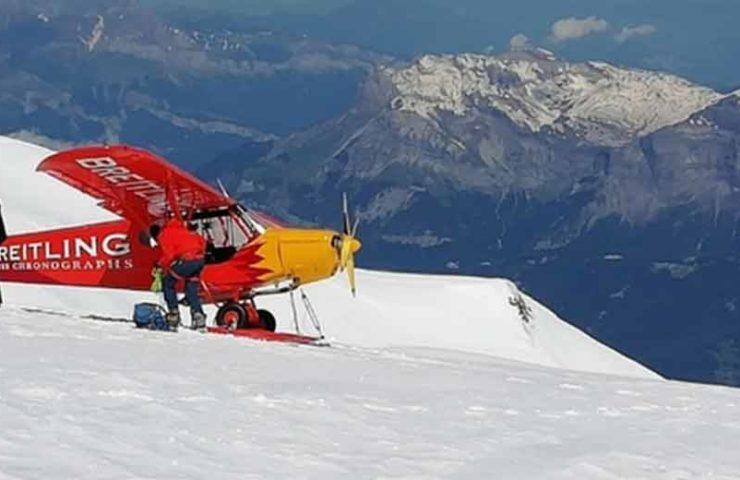 Zwei Schweizer landen am Mont Blanc mit einem Flugzeug