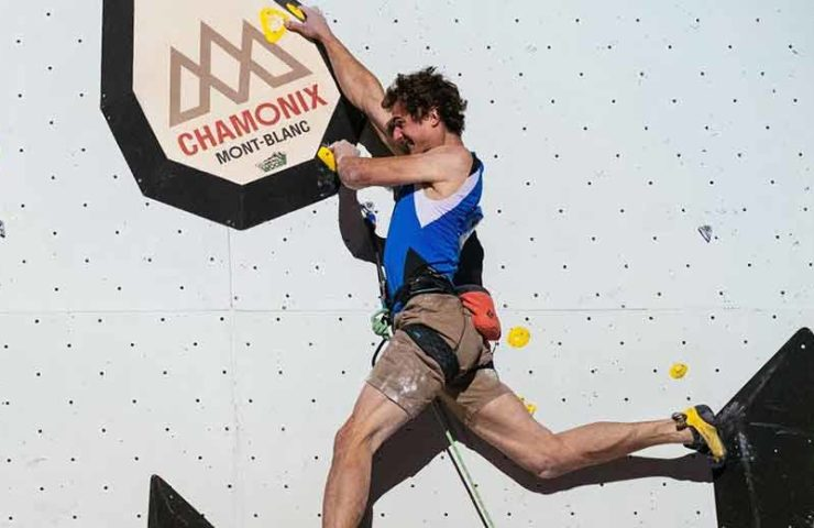 Adam Ondra en la competencia soñada en Chamonix