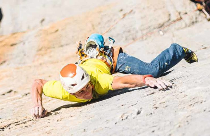 Cédric Lachat klettert Zahir an den Wendenstöcken