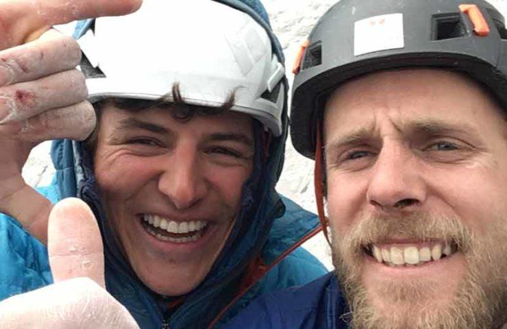 Jonas Schild und Yannick Glatthard begehen Silberrücken am Rotbrätt in einem Tag rotpunkt