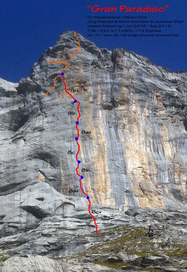 Topo Klettern Gran Paradiso Wendenstöcke
