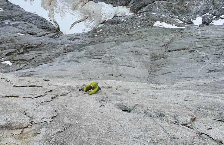 Marcel Schenk und David Hefti: Erste freie Begehung der Route Via Nardella am Piz Badile